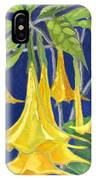 Angel Trumpets IPhone Case