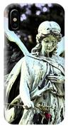 Angel With A Red Rose IPhone Case