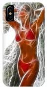 Angela Red Bikini Fractal IPhone Case