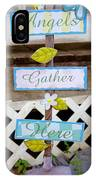 Angels Gather Here IPhone Case