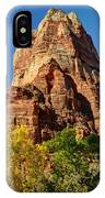 Angel's Landing In Fall - Zion National Park  IPhone Case