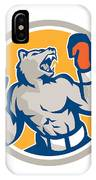 Angry Bear Boxer Gloves Circle Retro IPhone Case