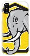 Angry Elephant Head Side Cartoon IPhone Case