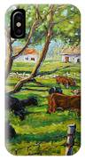 Angus Cows Under The Cool Shade By Prankearts IPhone Case