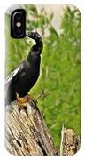 Anhinga Bird On Stump IPhone Case