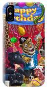 Animal Birthday Party IPhone Case