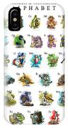 Animals And Instruments Alphabet IPhone Case