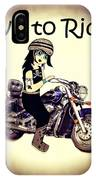 Anime Biker-live To Ride IPhone X Case