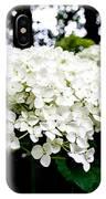 Annabelle Hydrangea Blossoms IPhone Case