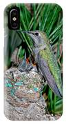 Annas Hummingbird With Young IPhone Case