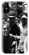 Anti-viet Nam War Protestor Confronting Smoking Marine Pro-war March Tucson Arizona 1970  IPhone Case