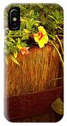 Antique Bucket With Yellow Flowers IPhone Case