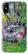 Antique Car With Trees In Windshield IPhone Case