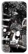 Antique Cars Black And White IPhone Case