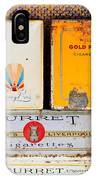 Antique Cigarette Boxes IPhone Case