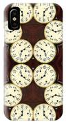 Antique Clock Abstract . Vertical IPhone Case