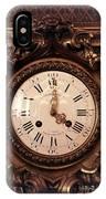 Antique Clock In Sepia IPhone Case