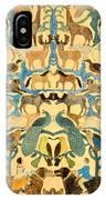 Antique Cutout Of Animals  IPhone X Case