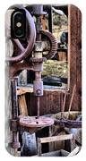 Antique Drill Press IPhone Case
