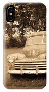 Antique Ford Car Sepia 2 IPhone Case