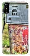 Antique Gas Pump 3 IPhone Case
