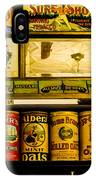 Antique Grocery Shelf IPhone Case
