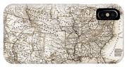 Antique Map 1853 United States Of America IPhone X Case