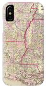 Antique Map Of Arkansas Mississippi And Louisiana IPhone Case