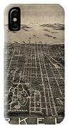 Antique Map Of Berkeley California By Charles Green - Circa 1909 IPhone Case