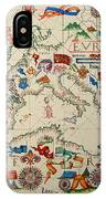 Antique Map Of Europa 1563 IPhone Case