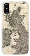 Antique Map Of Great Britain And Ireland By I. G. A. Weidner - 1801 IPhone Case