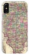 Antique Map Of Illinois 1855 IPhone Case