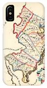 Antique Map Of New Jersey IPhone Case
