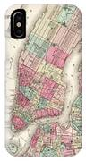 Antique Map Of New York City IPhone Case