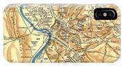 Antique Map Of Rome During Antiquity 1870 IPhone Case