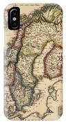 Antique Map Of Scandinavia By Fielding Lucas - Circa 1817 IPhone Case