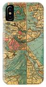 Antique Map Of The Baltic And North Sea Ports  IPhone Case