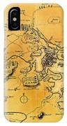 Antique Map Of The Battles Of Lexington And Concord 1775 IPhone Case