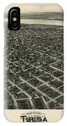 Antique Map Of Tulsa Oklahoma By Fowler And Kelly - 1918 IPhone Case