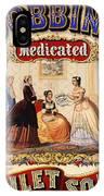 Antique Toilet Soap Ad - 1868 IPhone Case