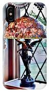 Antique Victorian Lamp At The Boardwalk Plaza - Rehoboth Beach Delaware IPhone Case