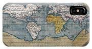 Antique World Map Circa 1570 IPhone Case