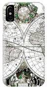 Antique World Map Poster IPhone Case