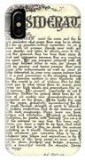 Antiqued Charcoal Desiderata IPhone Case