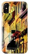 Antiqued Photograph Of Townhouses IPhone Case