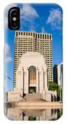 Anzac Memorial And Pool Of Reflection IPhone Case