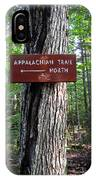 Appalachian Trail Sign North IPhone Case