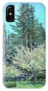 Apple Blossoms And Redwoods IPhone Case