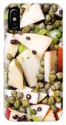 Apple Salad With Capers And Leaf Celery IPhone Case