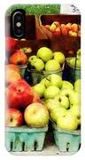Apples At Farmer's Market IPhone Case